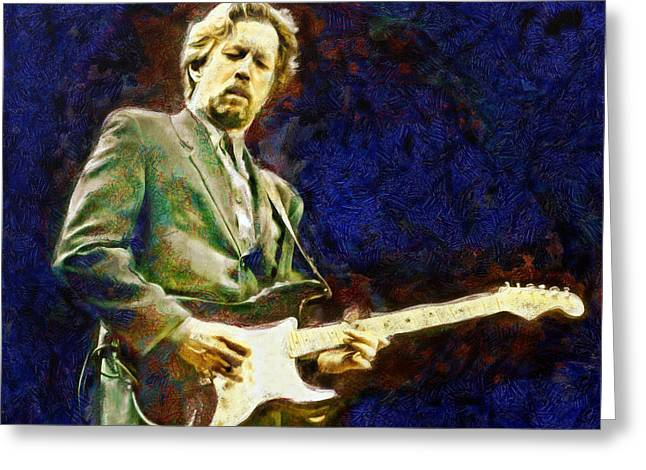 Lucent Dreaming Greeting Cards - Eric Clapton Greeting Card by Nikola Durdevic