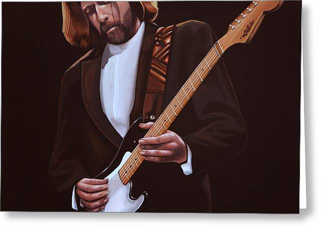 Eric Clapton Greeting Card by Paul  Meijering