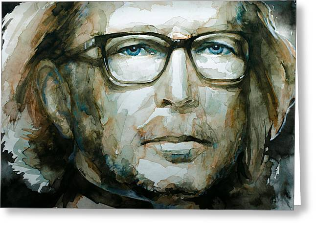 Slowhand Greeting Cards - Eric Clapton watercolor Greeting Card by Laur Iduc