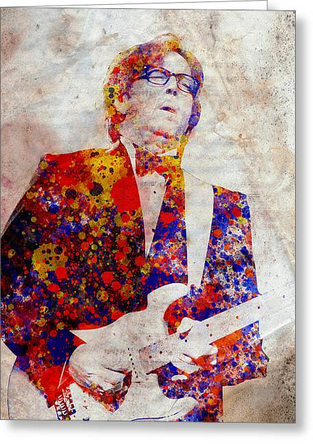 Eric Clapton Portrait Greeting Cards - Eric Claptond Greeting Card by MB Art factory
