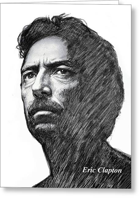 Eric Greeting Cards - Eric clarpton art drawing sketch portrait Greeting Card by Kim Wang