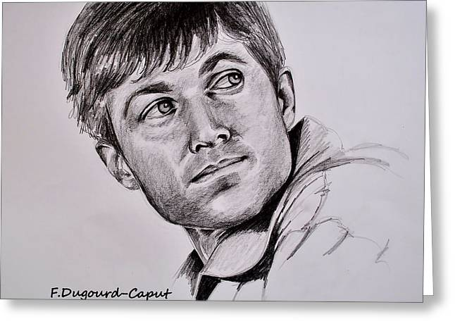 Graphite Greeting Cards - Eric  Greeting Card by Francoise Dugourd-Caput