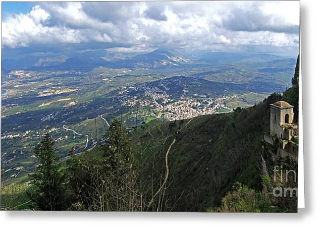 Erice Greeting Cards - Erice in Sicily Greeting Card by Mary Attard