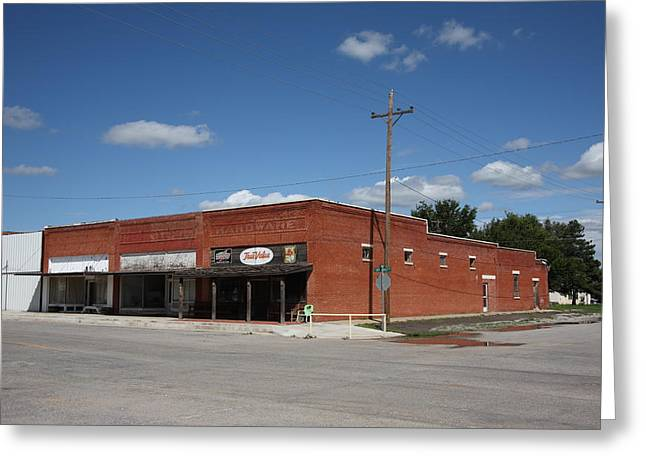 Hardware Shop Greeting Cards - Erick Oklahoma - Sheb Wooley Avenue Greeting Card by Frank Romeo