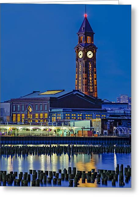 Skyline Greeting Cards - Erie Lackawanna Terminal Hoboken Greeting Card by Susan Candelario