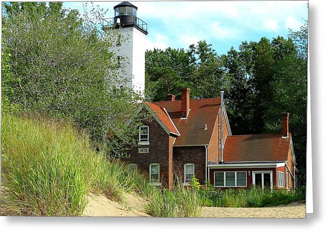 Close Focus Nature Scene Greeting Cards - Erie Presq Light Greeting Card by Jeffrey J Nagy