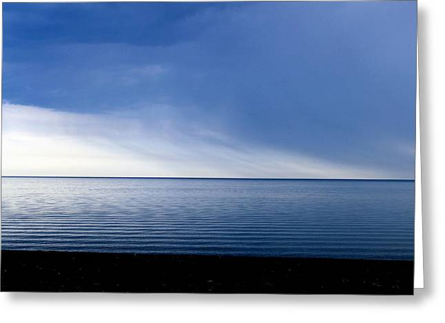 Storm Cloud On The Horizon Greeting Cards - Erieau Greeting Card by Hanne Lore Koehler