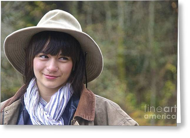 Corduroys Greeting Cards - Erin in Bucket Hat Greeting Card by Sean Griffin