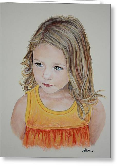 Haze Pastels Greeting Cards - Erin Greeting Card by Linda Eversole