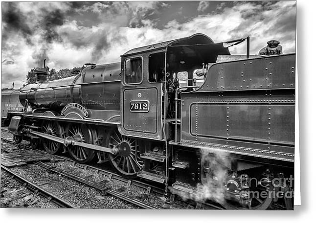 Black And White Hdr Greeting Cards - Erlestoke Manor v2 Greeting Card by Adrian Evans