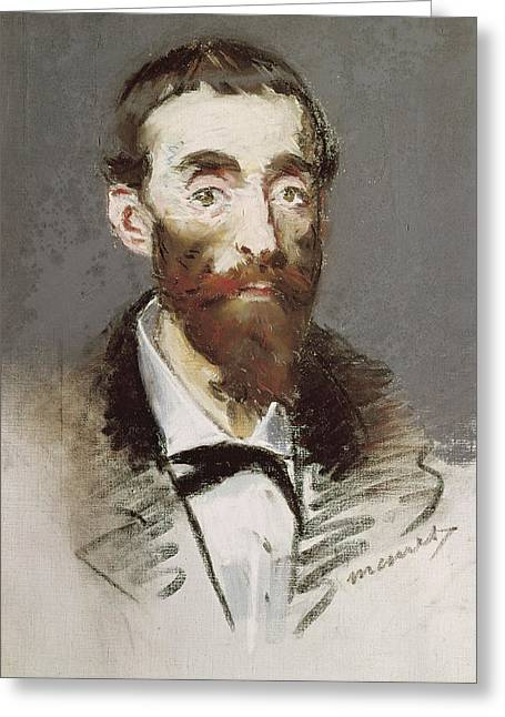 Head And Shoulders Photographs Greeting Cards - Ernest Cabaner Pastel Greeting Card by Edouard Manet