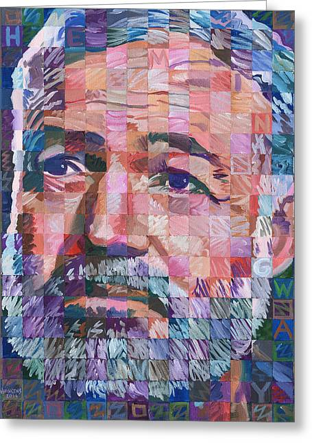 Randy Greeting Cards - Ernest Hemingway #2 Greeting Card by Randal Huiskens