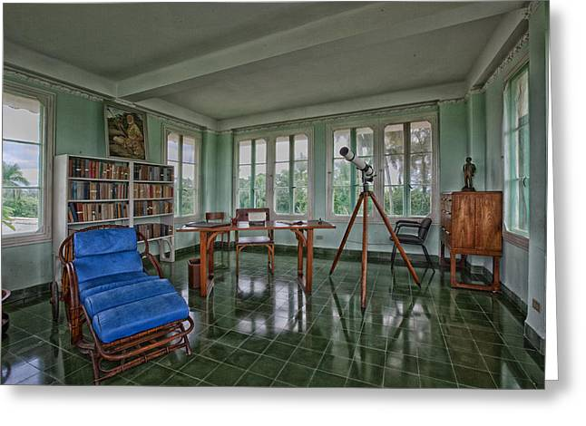 Recliner Greeting Cards - Ernest Hemingway Home - Havana Cuba Greeting Card by Mountain Dreams
