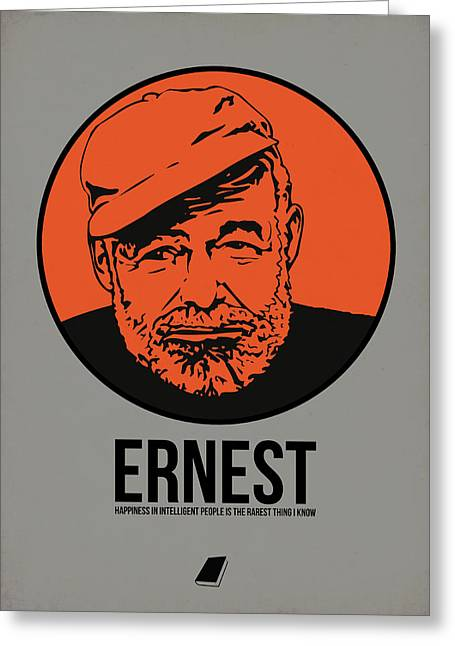 Author Greeting Cards - Ernest Poster 1 Greeting Card by Naxart Studio