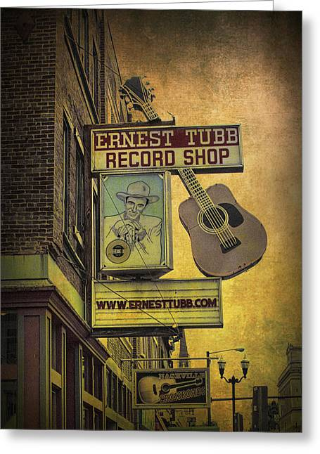 Country And Western Greeting Cards - Ernest Tubbs Record Shop Greeting Card by Randall Nyhof