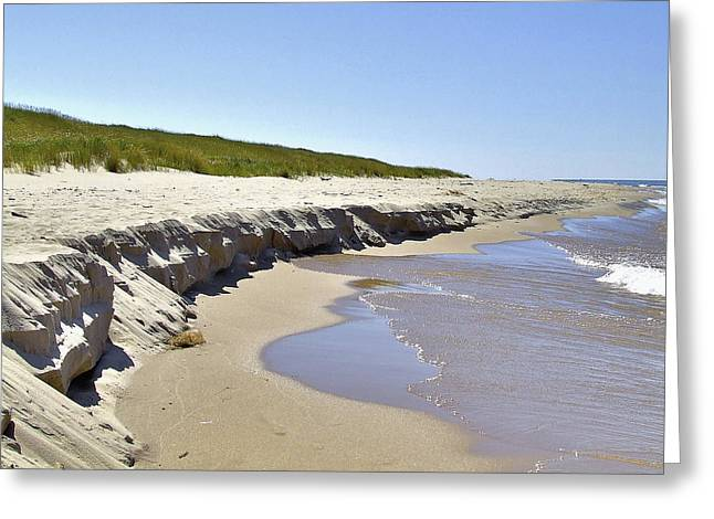 Eroded Beach Greeting Card by Richard Gregurich