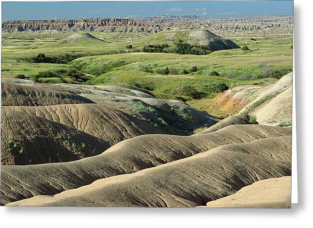 Gerry Greeting Cards - Eroded Landscape Badlands NP Greeting Card by Gerry Ellis