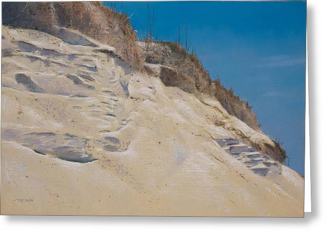 Beach Landscape Pastels Greeting Cards - Eroding Dune Greeting Card by Christopher Reid