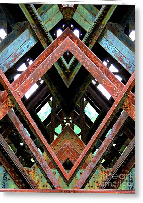 Stainless Steel Greeting Cards - Erosion Greeting Card by Marcia Lee Jones