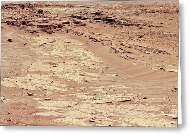 Erosion On Mars Greeting Card by Nasa/jpl-caltech/msss