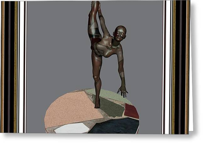 erotic acrobatics 7EA 2 Greeting Card by Pemaro