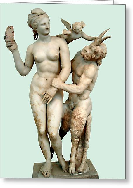 Museum Athens Greeting Cards - Erotic Advances Greeting Card by Ellen Henneke