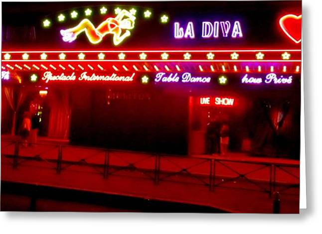 Redlight Greeting Cards - Erotic District in Paris Greeting Card by John Malone