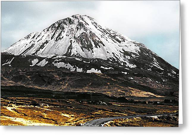 Jane Mcilroy Greeting Cards - Errigal Donegal Ireland Greeting Card by Jane McIlroy