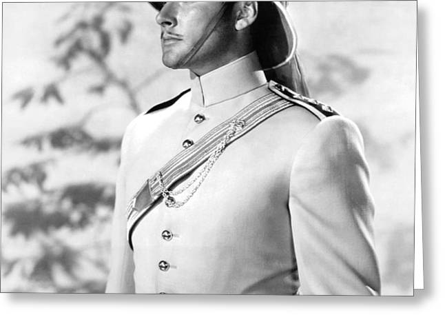 Errol Flynn in The Charge of the Light Brigade Greeting Card by Silver Screen