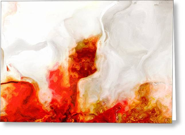 Fissure Greeting Cards - Eruption Greeting Card by Jack Zulli