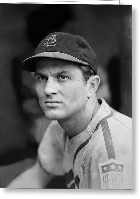 Baseball Uniform Greeting Cards - Erv Dusak Greeting Card by Retro Images Archive