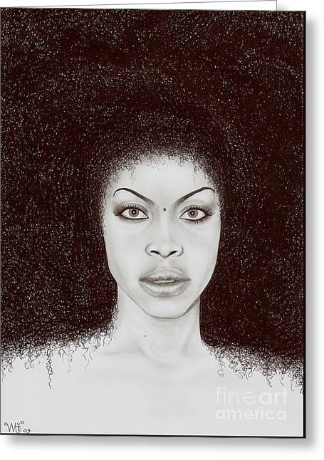 Erykah Greeting Card by Wave