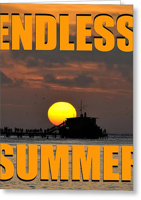 Smart Digital Art Greeting Cards - ES sunset orange smart phone case work Greeting Card by David Lee Thompson