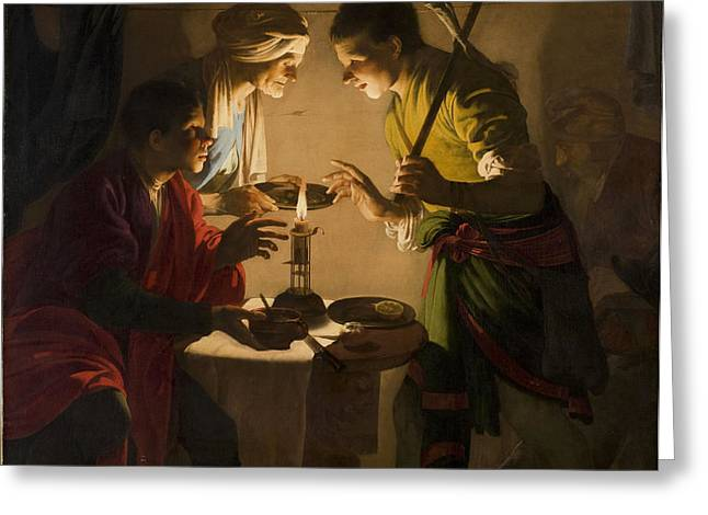 Birthright Greeting Cards - Esau Selling His Birthright Greeting Card by Hendrick ter Brugghen