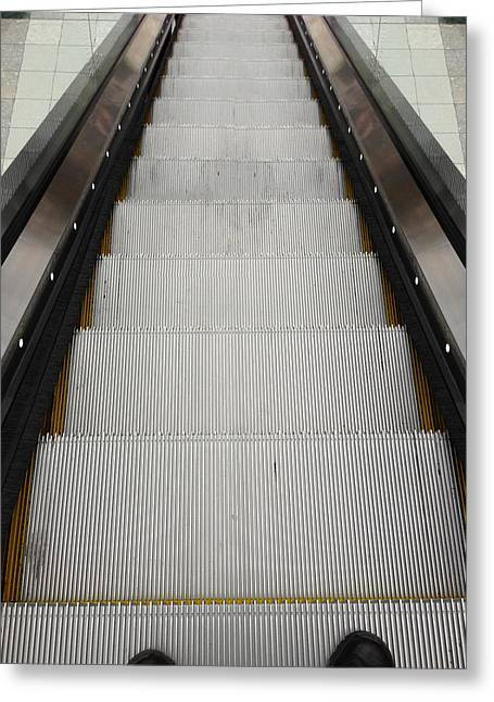 Escalator Greeting Cards - Escalator Greeting Card by Les Cunliffe