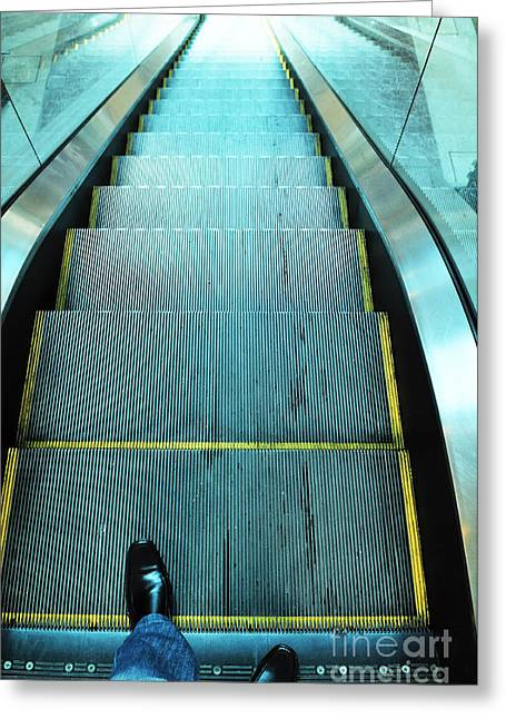 William Voon Greeting Cards - Escalator Greeting Card by William Voon
