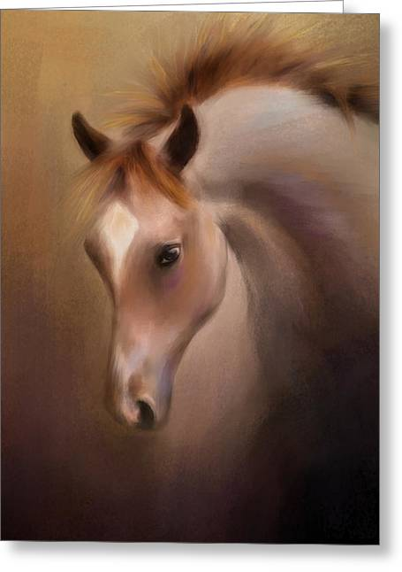 Spirit Pastels Greeting Cards - Escape From The Stable Greeting Card by Jai Johnson