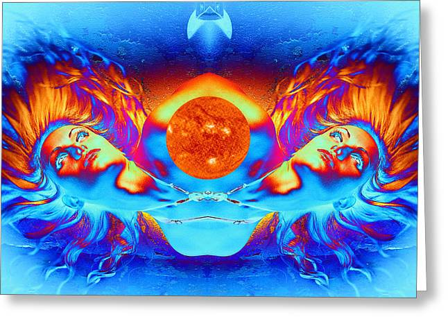 Science Fiction Digital Greeting Cards - Escape from the Sun Greeting Card by Matthew Lacey