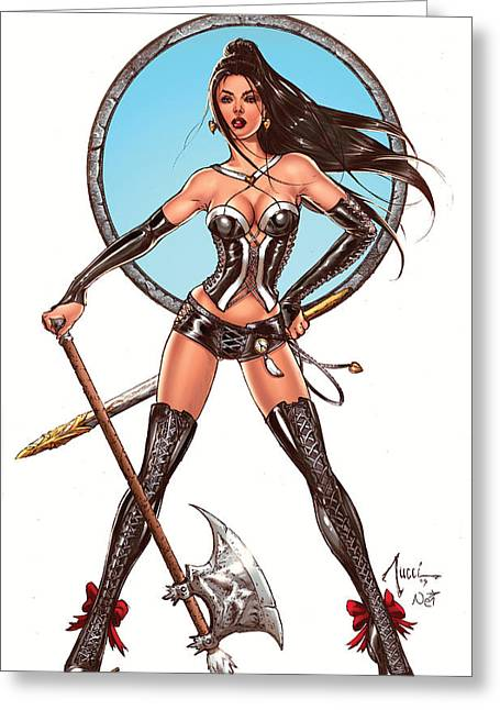 Book Greeting Cards - Escape from Wonderland CALIE Greeting Card by Zenescope Entertainment
