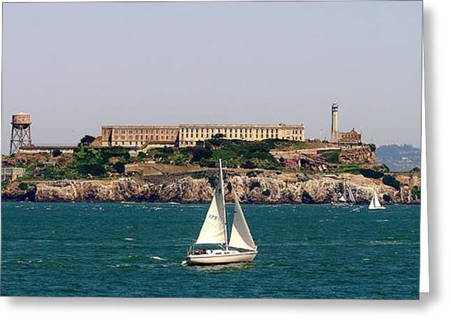 Alcatraz Greeting Cards - Escape Greeting Card by Jah Mackey