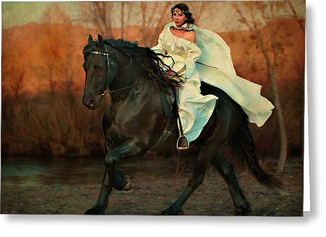 Equine Photo Greeting Cards - Escape Greeting Card by Jean Hildebrant