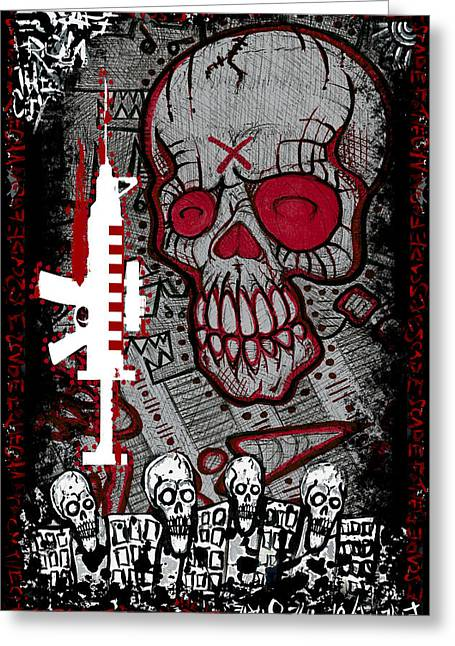 Tn Mixed Media Greeting Cards - Escape Plan 7 Greeting Card by Josh Brown
