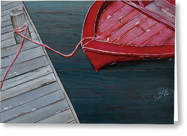 Docked Boats Greeting Cards - Escape Route Greeting Card by Danny Phillips