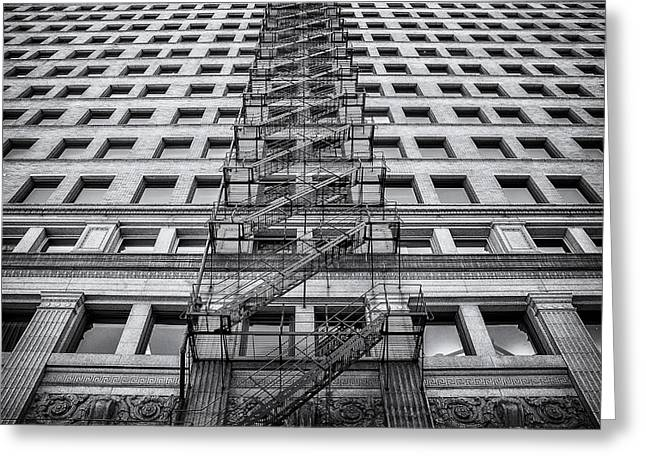 Glass Facades Greeting Cards - Escape Greeting Card by Scott Norris