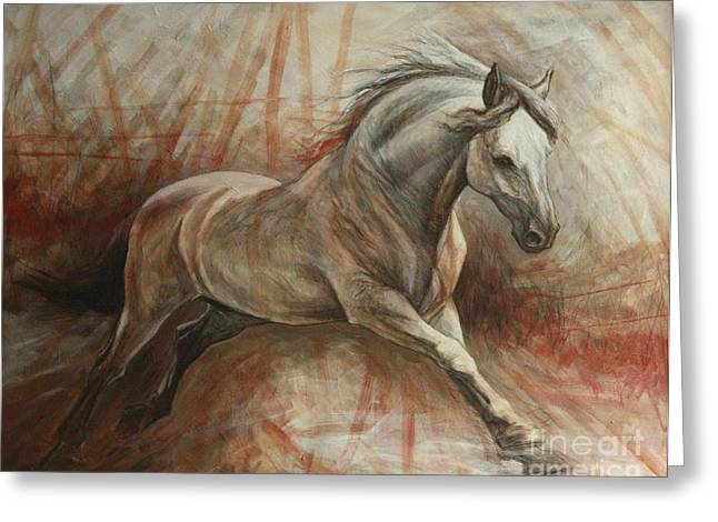 Horse Artist Greeting Cards - Escape Greeting Card by Silvana Gabudean