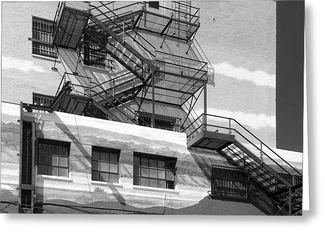 Fire Escapes Greeting Cards - Escape St. Joseph Missouri Greeting Card by Don Spenner