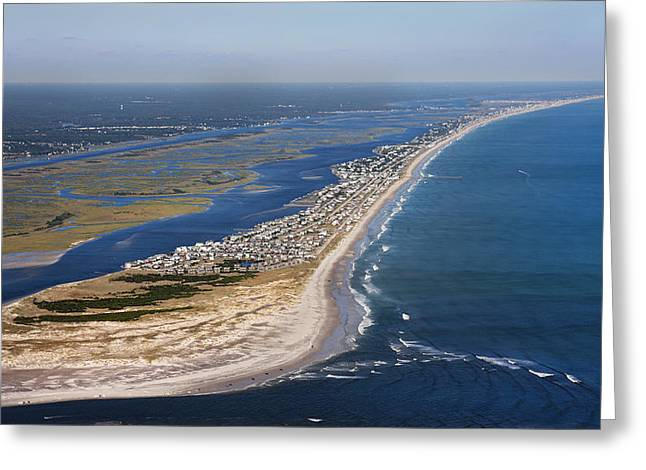 Aerial View Greeting Cards - Escape to Topsail Island Greeting Card by Betsy C  Knapp