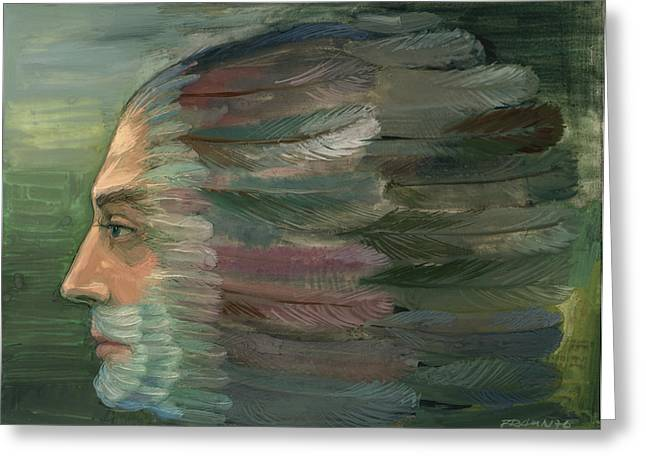 Morphing Paintings Greeting Cards - Escape to transformation Greeting Card by Horst Braun