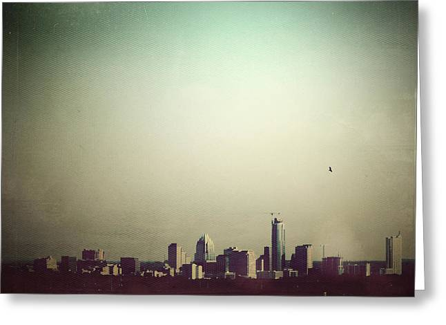 Leflaneuse Texture Greeting Cards - Escaping the City Greeting Card by Trish Mistric