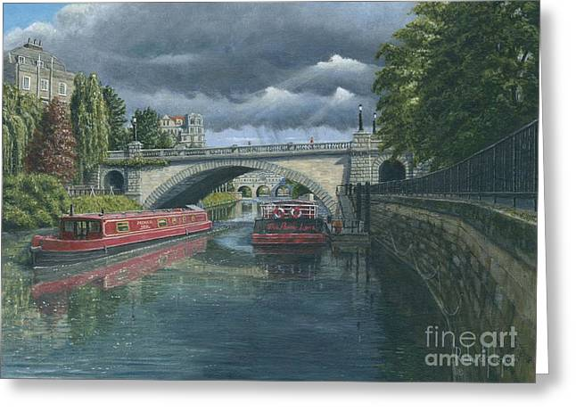 Somerset - England Greeting Cards - Escaping the Storm Greeting Card by MGL Meiklejohn Graphics Licensing